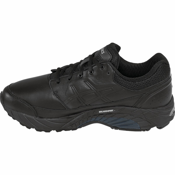 asics black walking shoes mens