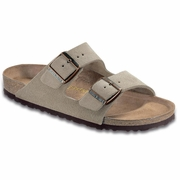 Birkenstock Arizona High Arch Suede Leather Sandal - Unisex - D-EE Width