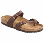 Birkenstock Gizeh Oiled Leather Thong Sandal - D/EE Width