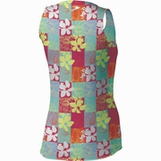 Brooks D'lite Mesh Flower Check Running Tank - Women's