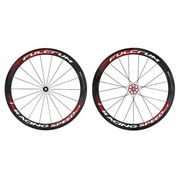Fulcrum Racing Speed XLR Carbon Tubular Bicycle Wheelset - Black/Red