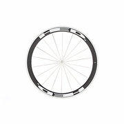 HED Jet 4 Flamme Rouge Clincher Front Bicycle Wheel - Stallion Build