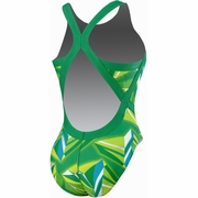 Nike Jagged Geo Modern Fast Back Tank Swimsuit - Women's