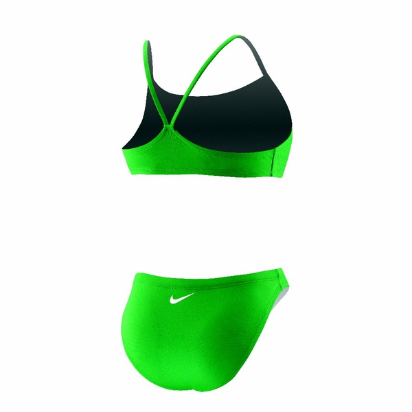 nike poly core solid sport top 2 piece swimsuit women 39 s. Black Bedroom Furniture Sets. Home Design Ideas