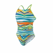Nike Rio Geo Cut Out Tank Swimsuit - Women's