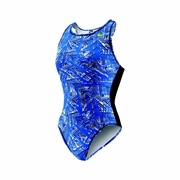 Nike Scatter Brain High Neck Tank Water Polo Suit - Women's