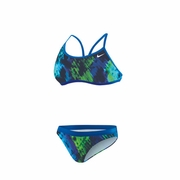 Nike Tie Dye 2 Piece Adjustable Sport Top Swimsuit - Women's