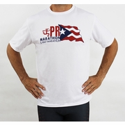 Puerto Rico Marathon PR Flag Short Sleeve Workout Shirt