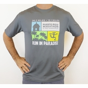 Puerto Rico Marathon Run In Paradise Short Sleeve Workout Shirt - Men's