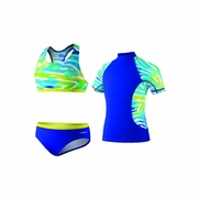 Speedo Camo Chameleon 3-Piece Swimsuit - Girl's