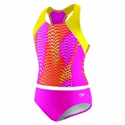 Speedo Check-On-The-Go 2-Piece Side Splice Swimsuit - Girl's