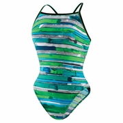 Speedo Color Stroke Cross Back Swimsuit - Women's