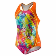 Speedo Dye-O-Rama Sport Splice Racerback Swimsuit - Girl's