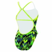 Speedo Endurance Lite Flipturns Puzzle Me This Clip Back Swimsuit - Women's
