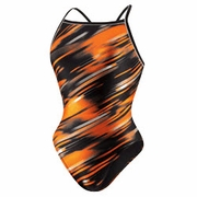 Speedo Fractal Point Fly Back Swimsuit - Women's