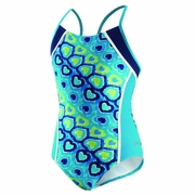 Speedo Love Burst Side Splice Butterfly Back Swimsuit - Girl's