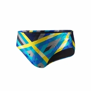 Speedo Poly Spandex Laser Stripe Swim Brief - Men's