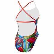 Speedo Rebel Lines Shirred Back Swimsuit - Women's