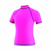 Speedo Short Sleeve Rash Guard - Girl's
