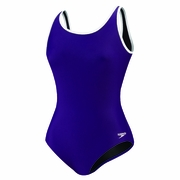 Speedo Solid Contour Back Binding Swimsuit - Women's