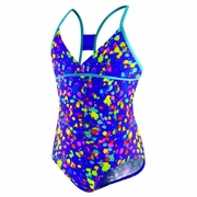 Speedo Spectacular Splatter Butterfly Back Swimsuit - Girl's