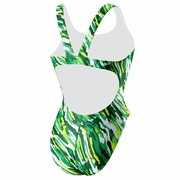 Speedo Team Camo Recordbreaker Back Swimsuit - Girl's