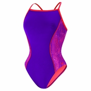 Speedo Watergrid Splice Clip Back Swimsuit - Women's