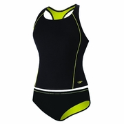 Speedo Watergrid Splice Tankini 2-Piece Swimsuit - Women's