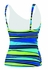 Speedo Woodblock Stripe Comfort Strap Tankini - Women's