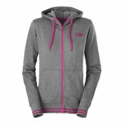 The North Face Logo Stretch Full Zip Hooded Sweatshirt - Women's