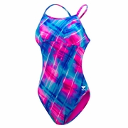 TYR Baja Plaid Reversible Diamondfit w/Cups Swimsuit - Women's