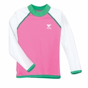 TYR Solid Rash Guard - Girl's
