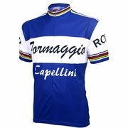 World Jersey Formaggio Retro Team Short Sleeve Cycling Jersey - Men's