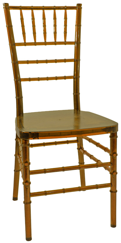 max amber crystal resin steel core chiavari chair