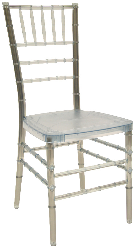 max ice crystal resin steel core chiavari chair