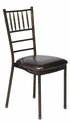 500 lb. Max Chiavari Chocolate Chair with Chocolate Vinyl Cushion [MB-700-CHIV-AC-CSP]