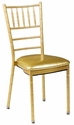 500 lb. Max Chiavari Gold Chair with Gold Vinyl Cushion [MB-700-CHIV-GOLD-CSP]