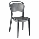 Bee Polycarbonate Stackable Dining Chair - Transparent Black [ISP021-TBLA-FS-CMP]