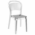Bee Polycarbonate Stackable Dining Chair - Transparent Clear [ISP021-TCL-FS-CMP]