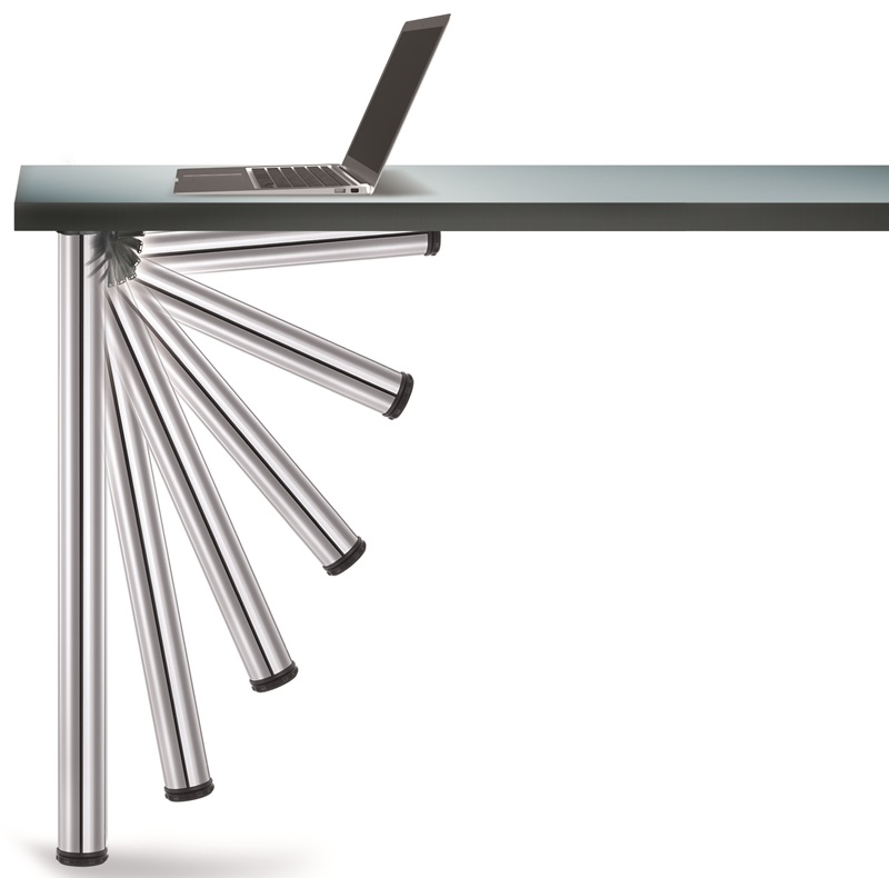Chrome Push Button Set Of Foldable Table Legs With Mounting