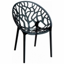 Crystal Modern Design Polycarbonate Dining Chair - Transparent Black [ISP052-TBLA-FS-CMP]