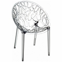 Crystal Modern Design Polycarbonate Dining Chair - Transparent Clear [ISP052-TCL-FS-CMP]