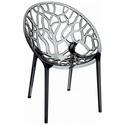 Crystal Modern Design Polycarbonate Dining Chair- Transparent Smoke Gray [ISP052-TGRY-FS-CMP]
