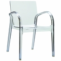 Dejavu Contemporary Polycarbonate See Through Arm Chair - Transparent Clear [ISP032-TCL-FS-CMP]
