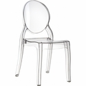 Elizabeth Polycarbonate Stackable Dining Chair with Oval Back - Transparent Clear [ISP034-TCL-FS-CMP]
