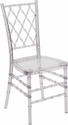 Flash Elegance Crystal Ice Stacking Simplicity Chair with <span style=color:#0000CD;>Free </span> Cushion [Y-4-GG]