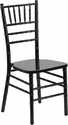 HERCULES Series Black Wood Chiavari Chair with Free Cushion [XS-BLACK-GG]