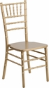HERCULES Series Gold Wood Chiavari Chair with Free Cushion [XS-GOLD-GG]