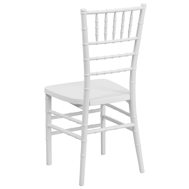 Hercules premium series white resin stacking chiavari chair with free cushion - White resin stacking chairs ...