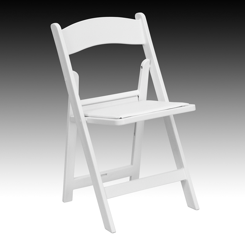 hercules series 1000 lb capacity white resin folding chair with white vinyl padded seat le l 1. Black Bedroom Furniture Sets. Home Design Ideas